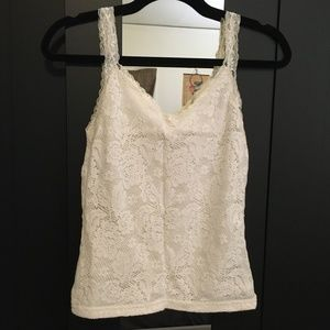 Faded Glory Lace Tank Top Small